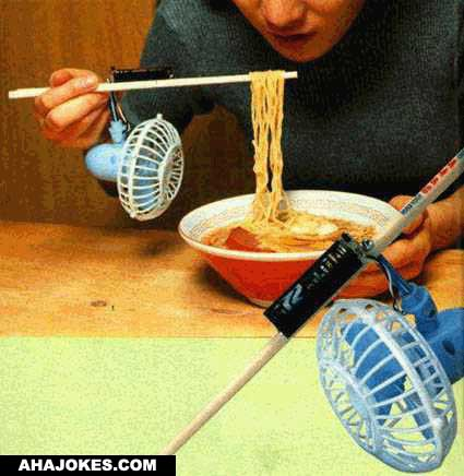 New way to cool food