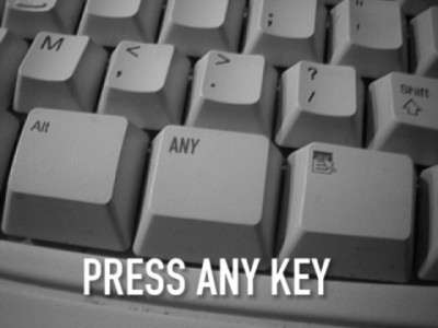Press the any key