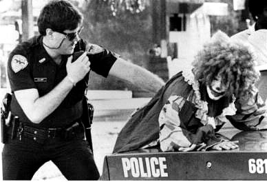 Clown is arrested