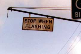 Stop if it is flashing