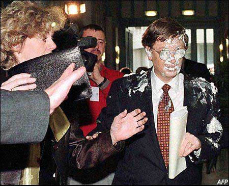 Gates pie in the face