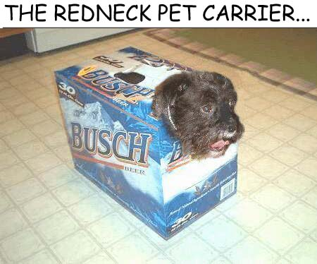 The Redneck Pet Carrier