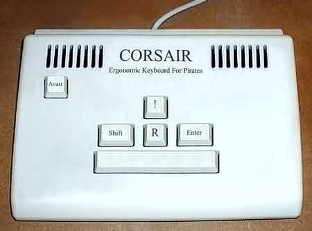 CORSAIR: Ergonomic Keyboard For Pirates