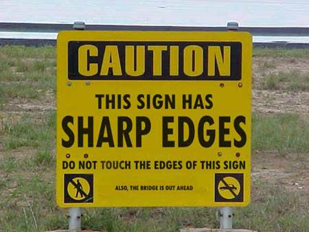 Warning: Sharp Edges