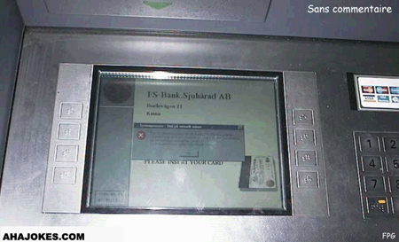 Error on the ATM