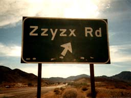 Drive to Zzyzx road